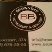 Photo taken at Brownbar by Ruslan on 9/5/2012