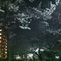 Photo taken at Oyokogawa-shinsui-koen Park by えひ~ on 4/10/2012