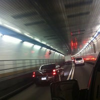 Photo taken at Holland Tunnel Toll Plaza by Chad P. on 5/9/2012