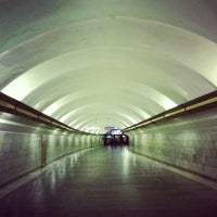 Photo taken at metro Ligovsky Prospekt by Kenneth S. on 6/11/2012