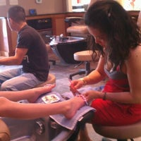 Photo taken at Solar nails & spa by Jada C. on 4/21/2012