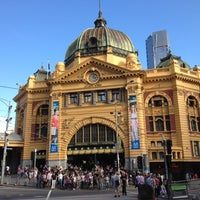 Photo taken at Flinders Street Station by Weston R. on 4/21/2012