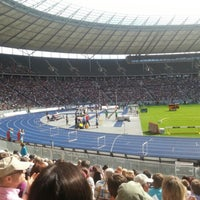Photo taken at Olympiastadion by Dominik W. on 9/2/2012