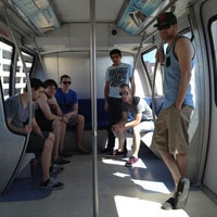 Photo taken at Las Vegas Monorail - MGM Grand Monorail Station by James H. on 4/29/2012