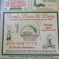 Photo taken at Tony's Pizza & Pasta Restaurant by Mike V. on 4/21/2012