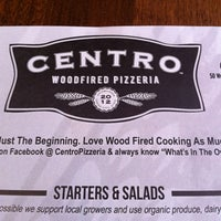 Photo taken at Centro Woodfired Pizza by Chris B. on 7/14/2012