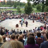 Photo taken at Sonntagskaraoke im Mauerpark by Alexandra V. on 7/15/2012