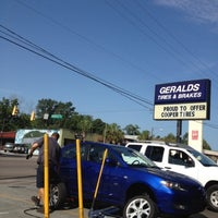 Photo taken at Gerald's Tires And Brakes by Laura L. on 7/24/2012