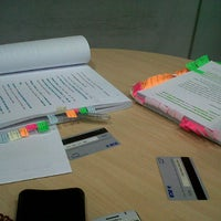 Photo taken at Library BINUS University by Sarah Raina on 8/6/2012