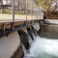 Photo taken at Barton Springs Spillway by Derek F. on 2/29/2012