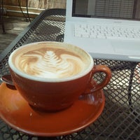 Photo taken at Once Over Coffee Bar by Leslie E. on 8/1/2012