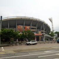 Photo taken at Sajik Baseball Stadium by 재균 박. on 6/28/2012