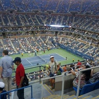 Photo taken at Arthur Ashe Stadium by Jason H. on 8/30/2012