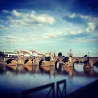 Photo taken at Stone bridge by Kuba P. on 8/29/2012