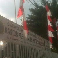 Photo taken at Kantor Pertanahan Kota Sukabumi by Munggaran M. on 8/9/2012