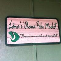 Photo taken at Lana'i Ohana Poke Market by Roxanne D. on 5/16/2012