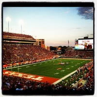 Photo taken at Darrell K Royal-Texas Memorial Stadium by Pauly M. on 9/9/2012