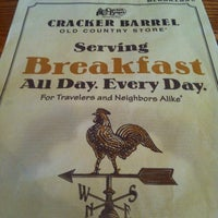 Photo taken at Cracker Barrel Old Country Store by Eric L. on 5/30/2012