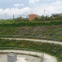Photo taken at Parc del Centre del Poblenou by Fernando M. on 5/18/2012