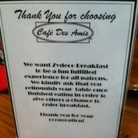 Photo taken at Cafe Des Amis by DeGustibus on 5/26/2012