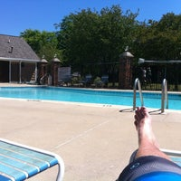 Photo taken at Pool side at Hampton Lakes by Kevin S. on 6/12/2012