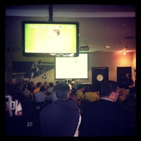 Photo taken at Pelé Arena Futebol & Café by Victor S. on 8/16/2012