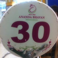 Photo taken at Ananda Bhavan Restaurant by Hershey D. on 4/11/2012