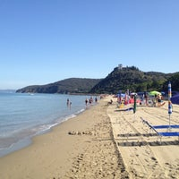 Photo taken at Beach Punta Ala by Philip B. on 7/19/2012