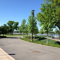 Photo taken at River Parks-41st Street Plaza by Hanan M. on 4/16/2012