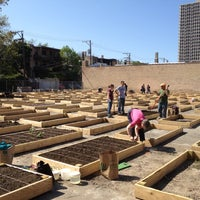 Photo taken at Vedgewater Community Garden-Peterson Garden Project by Michael N. on 5/13/2012