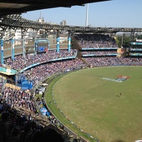 Photo taken at Wankhede Stadium by Nikhil O. on 4/25/2012