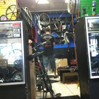 Photo taken at Bicycle Station by Zach S. on 8/6/2012