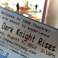 Photo taken at IMAX Theatre Winnipeg by Travis M. on 8/4/2012