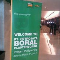 Photo taken at Ballroom of Pullman Jakarta Indonesia by Ardantya S. on 3/1/2012