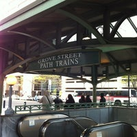 Photo taken at Grove Street PATH Station by Deborah D. on 4/24/2012