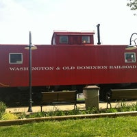 Photo taken at W&OD trail Vienna caboose by David B. on 4/20/2012