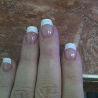 Photo taken at Sandy's Nails by Margaret on 2/18/2012