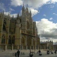 Photo taken at León Cathedral by Tamás V. on 5/19/2012
