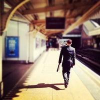 Photo taken at Upton Park London Underground Station by Stevie T. on 9/5/2012