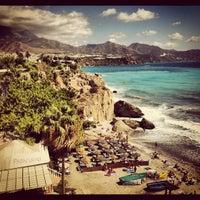 Photo taken at Calahonda Beach by Benjamin B. on 9/3/2012