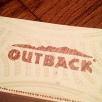 Photo taken at Outback Steakhouse by Melissa M. on 8/30/2012