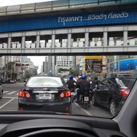 Photo taken at Asok Intersection by MANATSAWAN S. on 8/27/2012