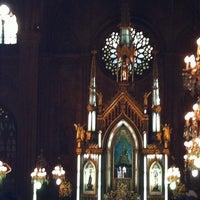 Photo taken at Minor Basilica of San Sebastian (Shrine of Our Lady Of Mount Carmel) by Jenn D. on 4/5/2012