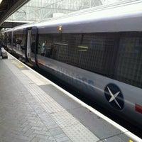 Photo taken at Heathrow Express Train - Paddington [PAD] to Heathrow [HXX] by Yumiko H. on 5/30/2012
