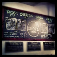 Photo taken at Choza Taqueria by Craig T. on 6/26/2012
