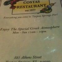 Photo taken at Costas Restaurant by Derek F. on 2/28/2012