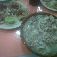 Photo taken at Pozole Casa Licha by Alejandro on 7/8/2012