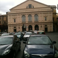 Photo taken at Piazza del Teatro (Piazza Verdi) by Pietro M. on 4/22/2012