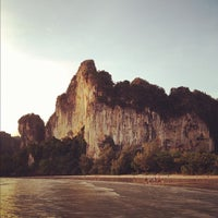 Photo taken at Railay Beach West by Travis on 8/3/2012