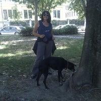 Photo taken at Piazza Tito Lucrezio Caro by Carmen B. on 7/18/2012